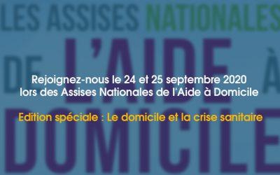 Les Assises Nationales de l'Aide à Domicile – 24 et 25 septembre 2020