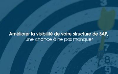 Améliorer la visibilité de votre structure de SAP, une chance à ne pas manquer