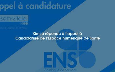 Ximi a répondu à l'appel à Candidature de l'Espace numérique de Santé